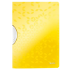 """Leitz Gyorsfűző, klipes, PP, A4, LEITZ """"Wow ColorClip"""", sárga"""