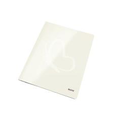 """Leitz Gyorsfűző, laminált karton, lakkfényű, A4, LEITZ """"Wow"""", fehér kreatív papír"""