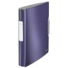 """Leitz Gyűrűs könyv, 4 gyűrű, 52 mm, A4, PP, LEITZ """"Active Style"""", titánkék"""