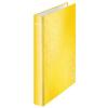 """Leitz Gyűrűs könyv, 4 gyűrű, D alakú, 40 mm, A4 Maxi, karton, lakkfényű, LEITZ """"Wow"""", sárga"""
