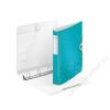 Leitz Gyűrűs könyv, 4 gyűrű, D alakú, 52 mm, A4, PP, LEITZ Active Wow jégkék (E42400051)
