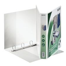 Leitz Gyűrűs könyv, panorámás, 4 gyűrű, D alakú, 51 mm, A4 Maxi, PP, , fehér gyűrűskönyv