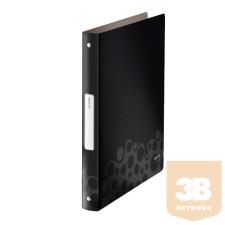Leitz Gyűrűskönyv -45670095- Bebop (PP) 4gy.2,5cm FEKETE LEITZ 10db/dob gyűrűskönyv