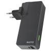 """Leitz Hálozati töltő és akkumlátor, USB, 3000 mAh, LEITZ """"Complete"""", fekete"""