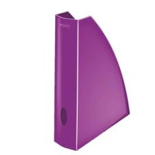 """Leitz Iratpapucs, műanyag, 60 mm, elöl nyitott, LEITZ """"Wow"""", metál lila irattartó"""