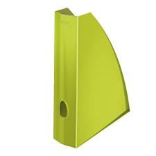"""Leitz Iratpapucs, műanyag, 60 mm, elöl nyitott,  """"Wow"""", metál zöld irattartó"""