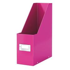 Leitz Iratpapucs, PP/karton, 95 mm, lakkfényű, LEITZ Click&Store, rózsaszín irattartó