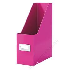 """Leitz Iratpapucs, PP/karton, 95 mm, lakkfényű, LEITZ """"Click&Store"""", rózsaszín irattartó"""