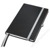 Leitz Jegyzetfüzet, A5, kockás, 80 lap, keményfedeles, LEITZ Style, szaténfekete (E44860094)
