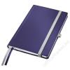 Leitz Jegyzetfüzet, A5, vonalas, 80 lap, keményfedeles, LEITZ Style, titánkék (E44850069)