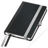 Leitz Jegyzetfüzet, A6, kockás, 80 lap, keményfedeles, LEITZ Style, szaténfekete (E44910094)