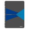 Leitz Spirálfüzet -44590035- A5 vonalas laminált karton borítás Kék Leitz