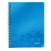 Leitz Spirálfüzet -46410036- wow A5 kockás Kék LEITZ