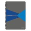 """Leitz Spirálfüzet, A4, vonalas, 90 lap, laminált karton borító, LEITZ """"Office"""", szürke-kék"""