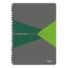 """Leitz Spirálfüzet, A4, vonalas, 90 lap, laminált karton borító, LEITZ """"Office"""", szürke-zöld"""