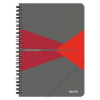 """Leitz Spirálfüzet, A5, vonalas, 90 lap, PP borító, LEITZ """"Office"""", szürke-piros (E44990025)"""