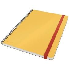 Leitz Spirálfüzet, B5, kockás, 80 lap, LEITZ,  Cosy Soft Touch , melegsárga füzet