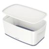 """Leitz Tároló doboz, fedővel, kicsi, LEITZ """"MyBox"""", fehér-szürke"""