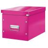 """Leitz Tároló doboz, lakkfényű, L méret, LEITZ """"Click&Store"""", rózsaszín"""