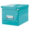 """Leitz Tároló doboz, lakkfényű, M méret, LEITZ """"Click&Store"""", jégkék"""