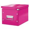 """Leitz Tároló doboz, lakkfényű, M méret, LEITZ """"Click&Store"""", rózsaszín"""