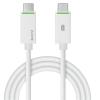 """Leitz Töltő- és adatkábel USB-C - USB-C 3.1, 1 m, LEITZ, """"Complete"""", fehér"""