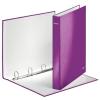 """Leitz """"Wow"""" A4 Maxi 40 mm lakkfényű D alakú 4 gyűrűs karton lila gyűrűskönyv"""