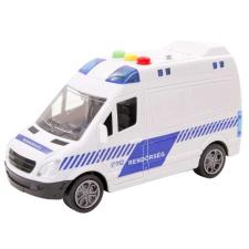 Lendkerekes magyar rendőrautó hanggal és fénnyel autópálya és játékautó