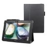 Lenovo S6000L / Vodafone Smart Tab III 10, bőrtok, mappa tok, fekete