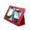 Lenovo S6000L / Vodafone Smart Tab III 10, bőrtok, mappa tok, piros