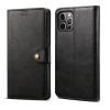 LENUO Leather iPhone 12/12 Pro készülékre, fekete