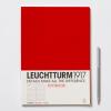 LEUCHTTURM Vonalas jegyzetfüzet /piros/ - 210 x 297 mm