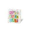 Leykam Alpina (BSB) BSB ajándéktasak (23x19x9 cm) happy birthday, konfettis