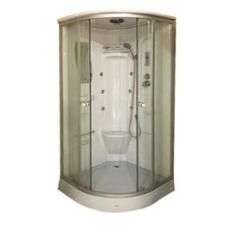 Leziter Liza akril hátfalas hidromasszázs zuhanykabin kád, zuhanykabin