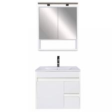 Leziter Luna 60 komplett fürdőszobabútor, Tükörfényes fehér-Tükörfényes fehér bútor
