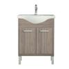 Leziter Nerva 65 cm-es bútorhoz alsószekrény, mosdóval, Rauna szil