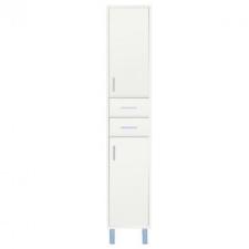 Leziter Nerva/Seneca 35 magas szekrény 2 ajtóval, 2 fiókkal, tükörfényes fehér bútor