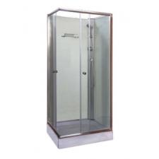 Leziter 'Polo White II szögletes fehér hátfalas zuhanykabin, akril zuhanytálcával' kád, zuhanykabin