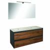 Leziter Porto 120 komplett fürdőszoba bútor antracit-country tölgy színben