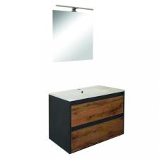 Leziter Porto 80 komplett fürdőszoba bútor antracit-country tölgy színben bútor