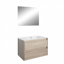 Leziter Porto Prime 80 komplett fürdőszoba bútor sonoma tölgy színben bútor