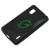 LG E975/E970 Optimus G fekete szilikon tok