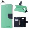 LG G5, Oldalra nyíló tok, stand, Mercury Fancy Diary, cyan