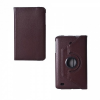 LG G Pad 8.0 V480, bőrtok, mappa tok, elforgatható (360°), barna