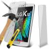 LG K10, Kijelzővédő fólia, ütésálló fólia (az íves részre NEM hajlik rá!), Tempered Glass (edzett üveg), Clear