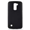 LG K420N K10 fekete MATT vékony szilikon tok