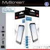 LG K4, Kijelzővédő fólia, ütésálló fólia (az íves részre NEM hajlik rá!), MyScreen Protector L!te, Flexi Glass, Clear, 1 db / csomag