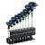 Licota Tools T-torxkulcs készlet markolattal, L-alakú, 9 db-os
