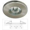 Life Light Led Led beépíthető spot lámpatest, IP44, fix, MR16 foglalattal, matt króm Life Light led ÚJ!