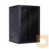 Linkbasic kétrészes fali rack szekrény 19'' 18U 600x550mm fekete